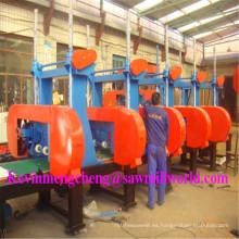 Máquina de coser de madera horizontal automática del CNC de 5 cabezas de la sierra de cinta