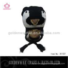 wholesale knitted custom winter hats with braids