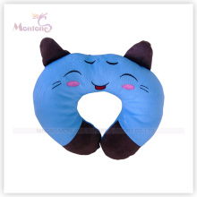 Blue Cat Shaped Neck Rest Cushion