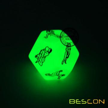 12 Sides Adult Funny Sex Position Glowing Adult Dice Set