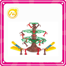 Mini Plastic Intellectual Monkeys Tree Toy Games