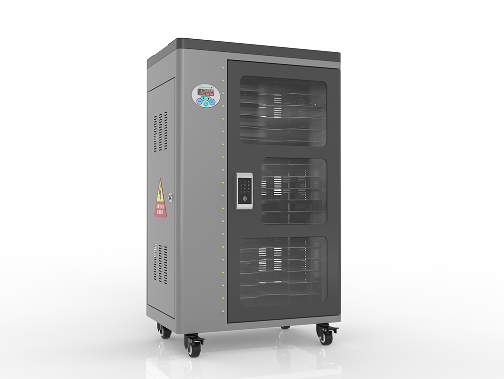 Wireless mobile device charging cabinet