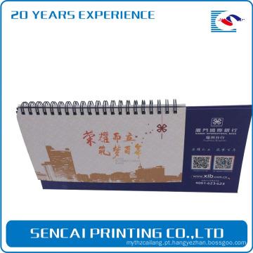 Calendário 2017 calendário elegante e calendário de mesa com impressão em papel