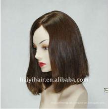 Un verarbeitete Natural Virgin Silk Top Perücke