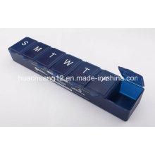 Semanal 7 dias caixa de comprimidos com Braille Mark Plb51