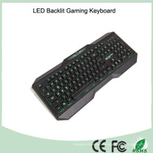Ergonomics Design Laser Printing LED Light Computer Keyboard Gaming (KB-1801EL)