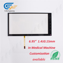 "Industrial Control Film+Glass 5.6"" Resistive Lvds Touch Panel for GPS"