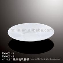Saucette chinoise en porcelaine blanche spécial et durable