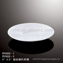 healthy special durable white porcelain chinese saucer
