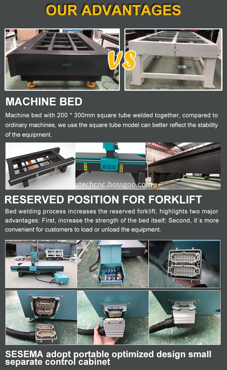cnc mdf cutting drilling machine