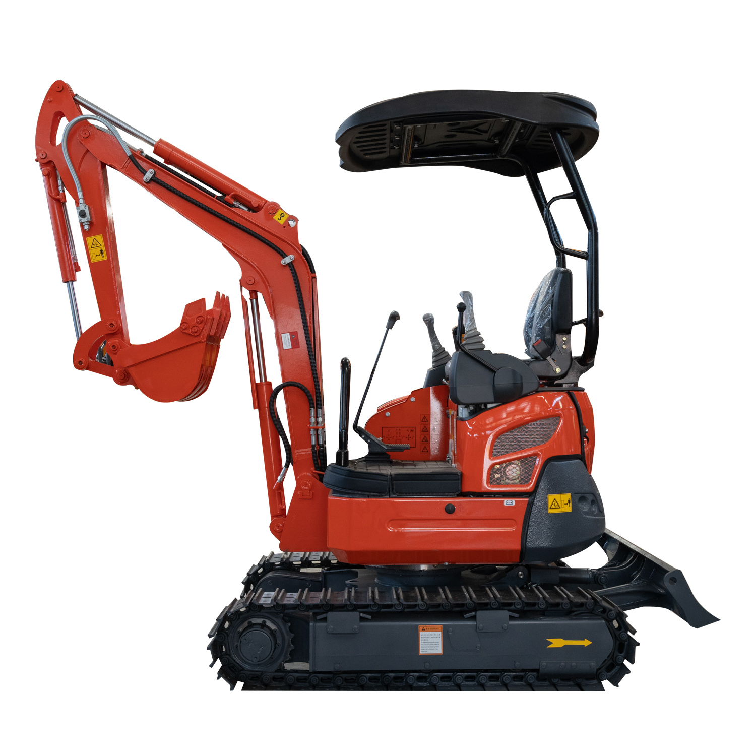 mini excavator with swing boom