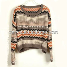 13STC5211 jacquard short pattern knits sweaters for christmas