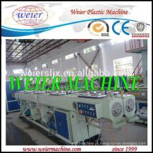maquinaria de extrusão de tubo de dupla saída plástica PVC