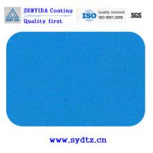 Peinture en poudre de bleu transparent