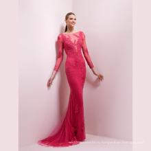 Розовый Кружева Блесток Русалка Выпускного Вечера Вечернее Платье