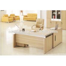Top teak wood office desk design, popular furniture design for office