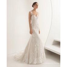 Fashion Lace Applique Wedding Dress
