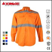 100% algodón Australia mercado UPF 50+ camisa de trabajo de protección UV