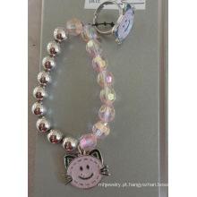 Conjunto de esmalte Hello Kitty Cat crianças anel e pulseira
