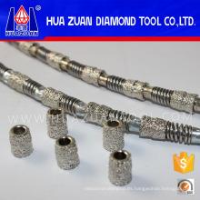 Sierra de alambre de diamante soldada al vacío en venta