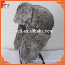 Fur Hat in real rabbit fur