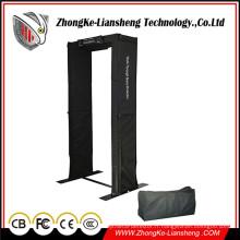Portes de sécurité portables Détecteur de métaux de tête à pied Toile Archway
