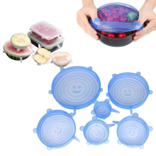 Tapa para alimentos de silicona elástica duradera y reutilizable FDA / LFGB