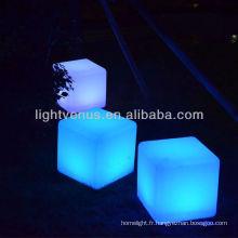 40cm cube de lumière led / led cube de changement de couleur