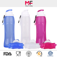 Sporting foldable silicone water bottle