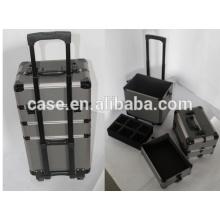 professionelle Beauty-Aluminium-Kosmetik Schmink Fällen mit trolley