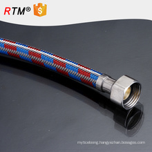 J9 ss304 pipe flexible toilet hose resistant stainless steel stainless steel braided corrugated ptfe teflon tubing