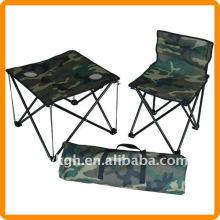 cadeira de pesca dobrável e mesa com bolsa de transporte