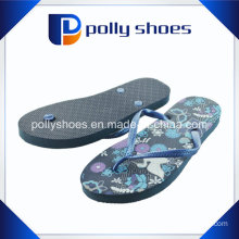 Splendid Womens Sunshine Blue Beach Gray Open Toe Flip Flop