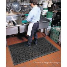 Coussin de trou de sol en caoutchouc de cuisine, tapis creux en caoutchouc antidérapant pour hôpital