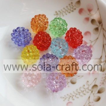 12x14MM Wholesale Mix Color Transparent Acrylic Berry Beads