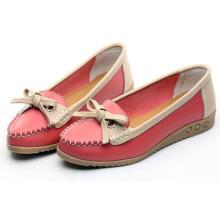 Женская обувь для вождения Moccasin-Gommino вскользь кожаная обувь Loafer обувь (BRD0615-10)