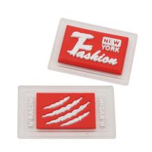 Etiquetas de transferencia de calor de silicona con logotipo de ropa personalizada