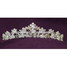 Скидка моды пользовательских Свадебная тиара блестящей Crystal Bridal короны