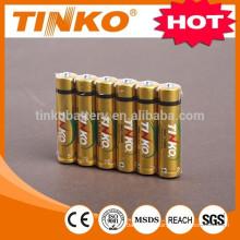 Gold Alu foil battery alkaline battery