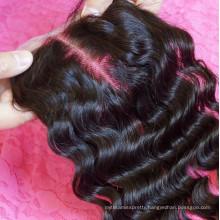 7A 100 Unprocessed Brazilian Silk Top Bleached Knots Silk Base Lace Brazilian Lace Closure Body Wave Wavy Hair Weave Extensions