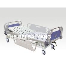 (A-59) - Cama de hospital manual de função única móvel com cabeça de cama ABS