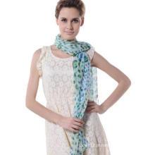2017 Moda Design Mulher de boa qualidade Lenço Silk Silver Georgette Shawl (SP064)