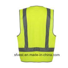 Gilet de sécurité relative de vêtements de travail haute visibilité avec AS / NZS