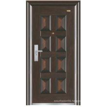 Black Colour Deep Embossing Panel Design Steel Security Door