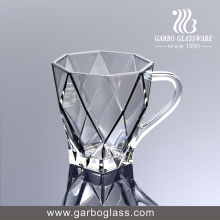 220ml Nouvelle tasse en verre moule, coupe en verre avec poignée, verre à thé, verre à café (GB092308DL)