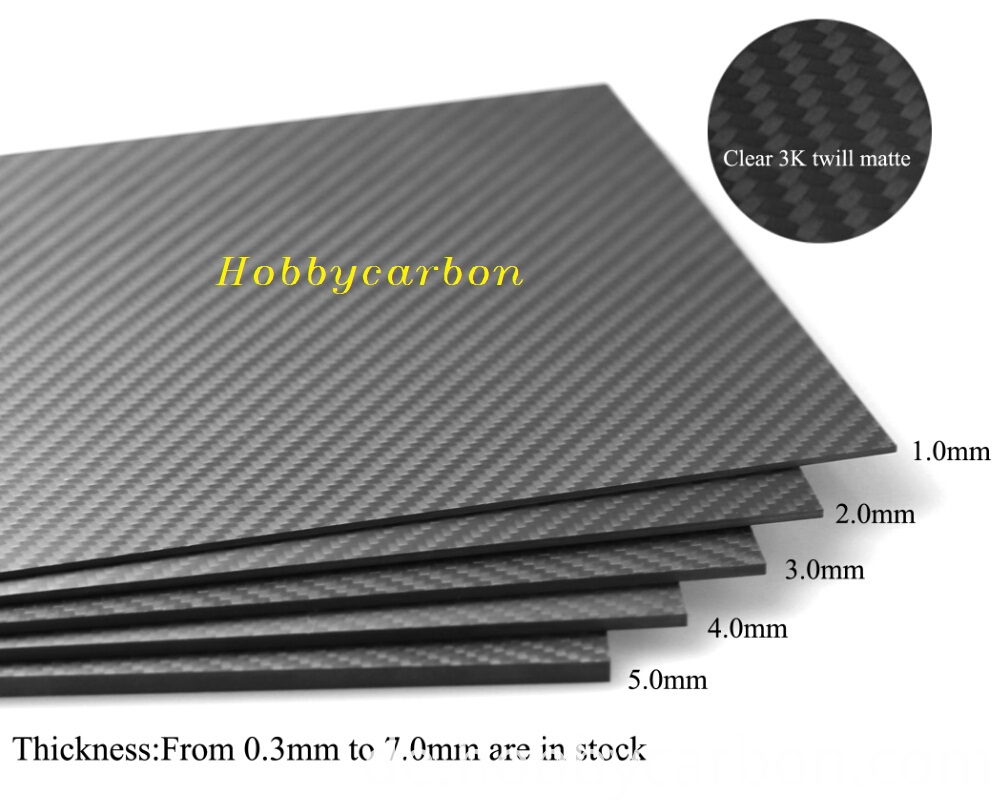 different thickness carbon fiber sheets
