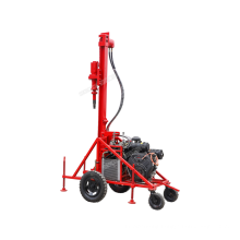 Hot sales portable mountain blast hole drilling rig with air compressor