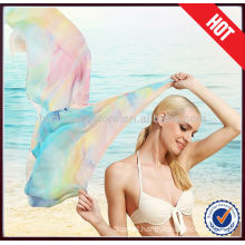 One of the Best-selling Oblong Wide Chiffon Shawl in 2014SS
