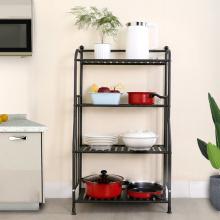 Estantes de almacenamiento de cocina de metal de visualización de hierro simple