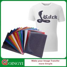Qingyi hot sale glitter iron on vinyl sheets wholesale